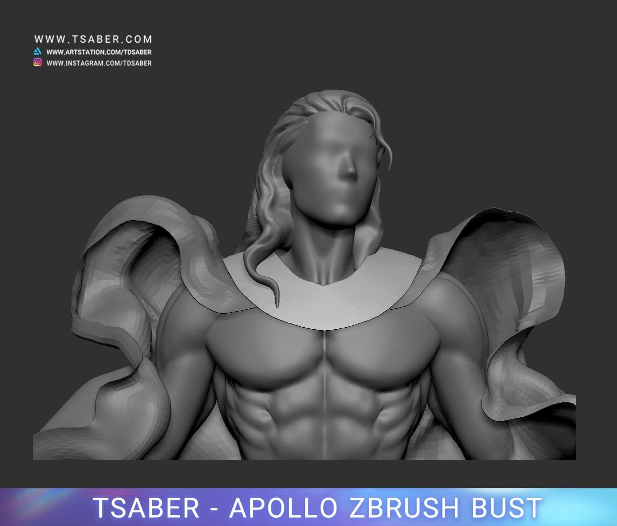 Making of Apollo Zbrush - Blood of Zeus - Tsaber