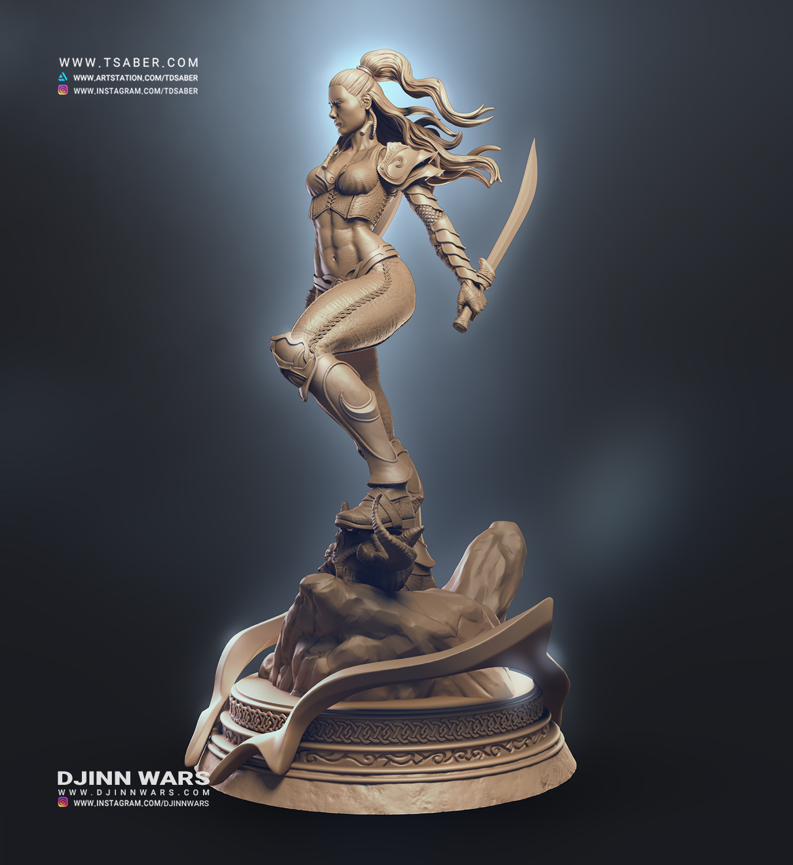 Danica Statue Zbrush - Djinn Wars Collectibles - Tsaber