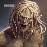 Eren Titan Statue - Attack on Titans Anime - Tsaber