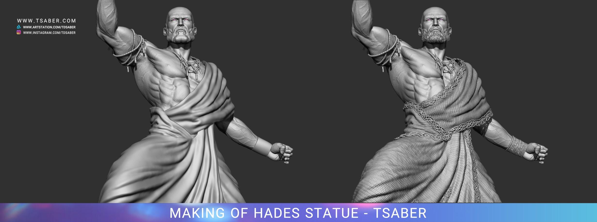 Making of Hades Statue Zbrush - Blood of Zeus - Tsaber