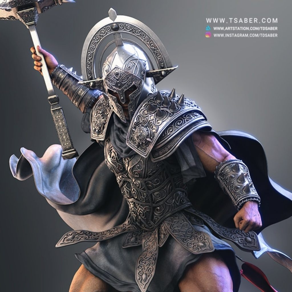 Ares Statue Collectible- Blood OF Zeus Anime - Tsaber