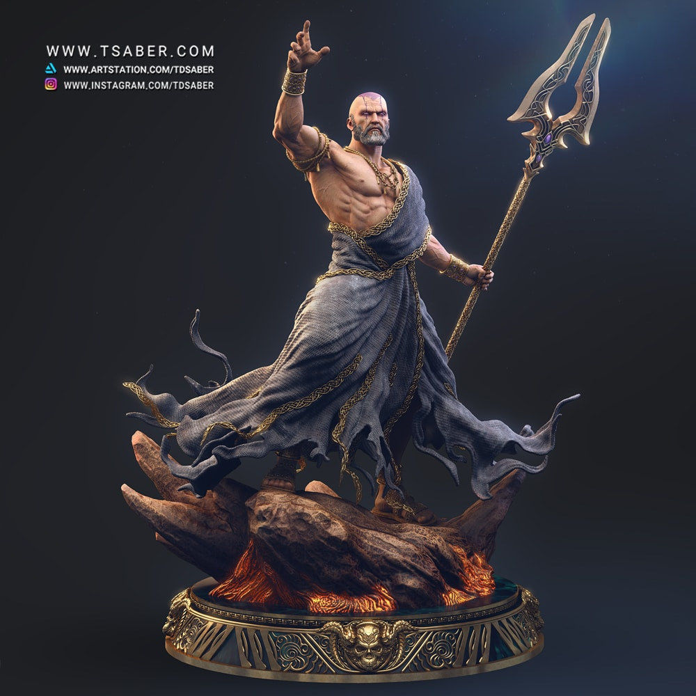 Hades Statue - Blood OF Zeus Collectible - Tsaber
