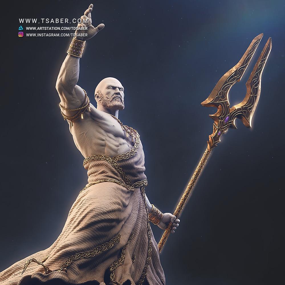 Hades Sculpture Zbrush - Blood OF Zeus Collectible - Tsaber