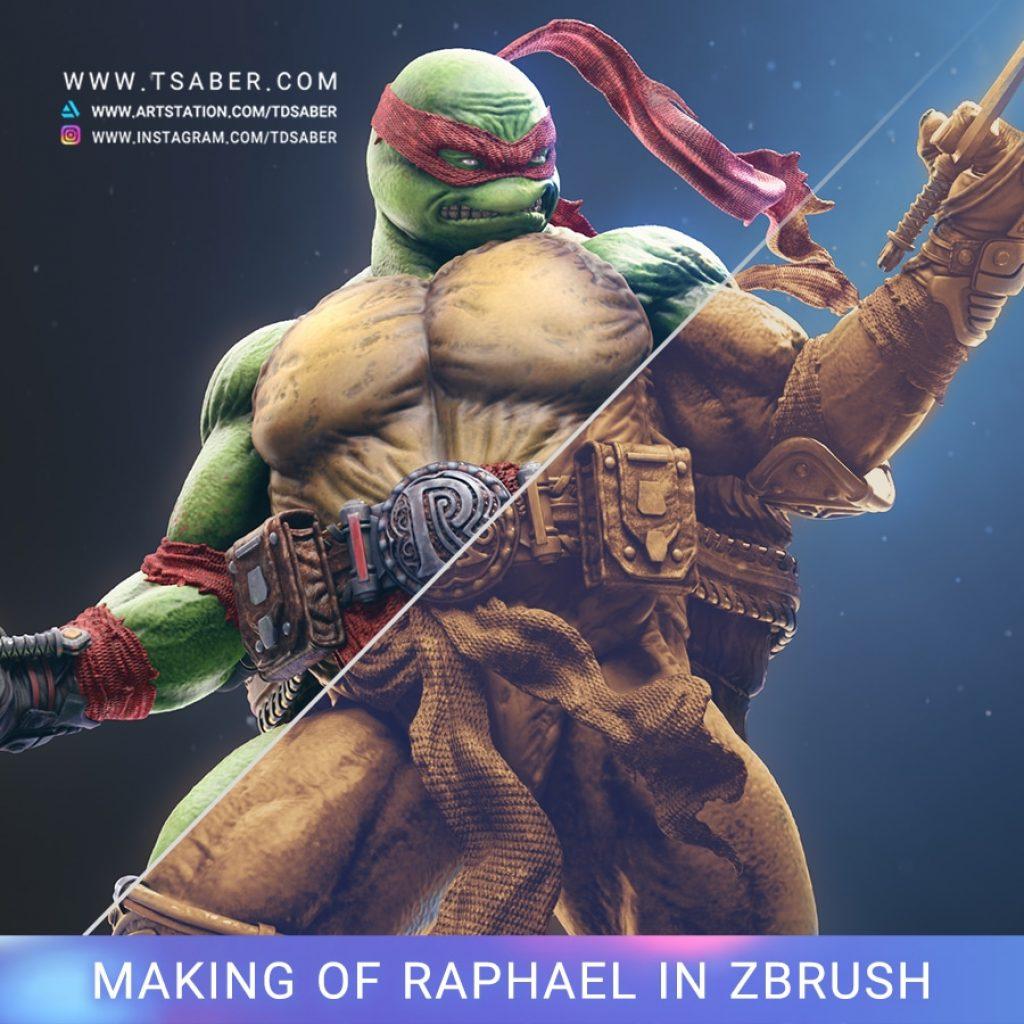 Making of Raphael statue - Teenage Mutant Ninja Turtles - Tsaber