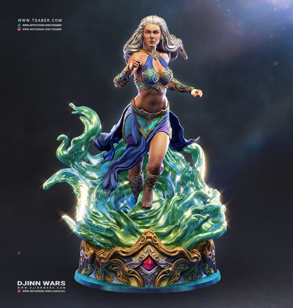 Ania Statue Zbrush - Djinn Wars Collectibles - Tsaber