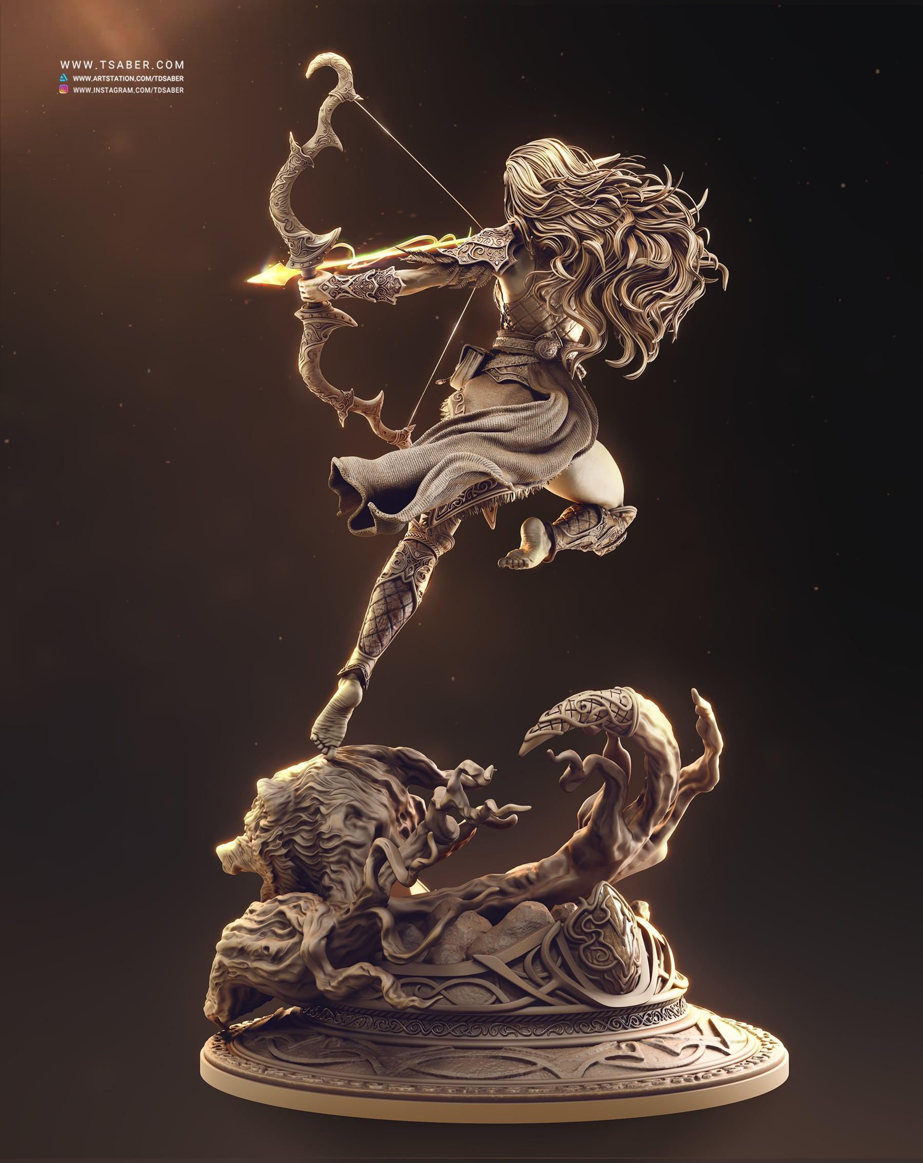 Night Elf Archer - Sculpture collectible - Tsaber