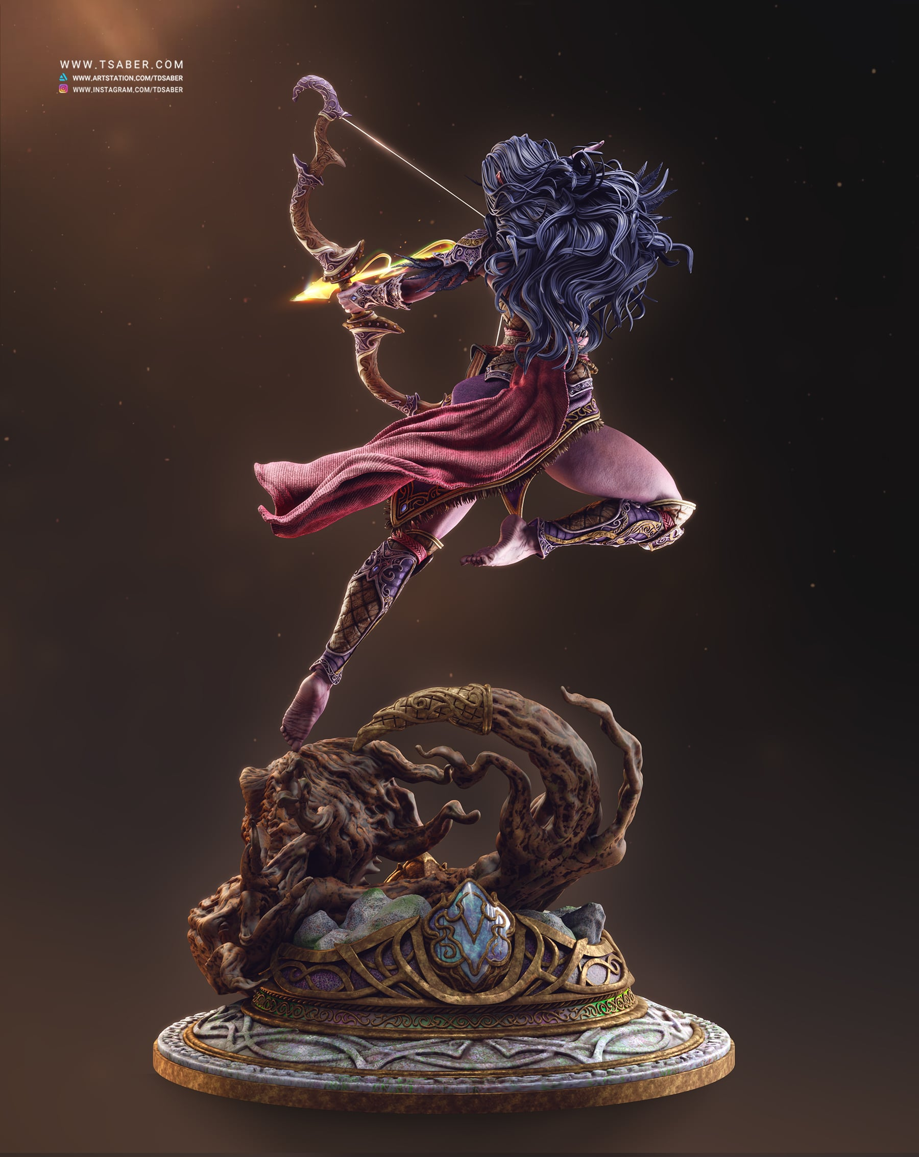 Night Elf Statue - Warcraft Collectibles - Tsaber
