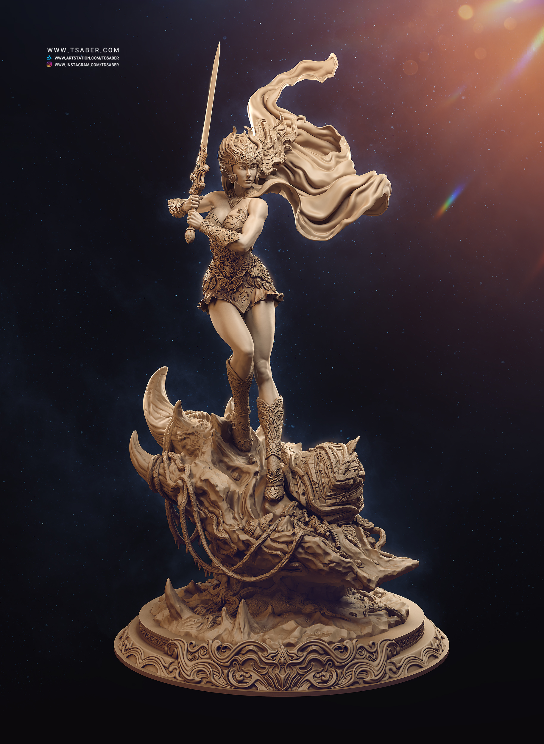 Shera Statue - Masters of The Universe - Tsaber
